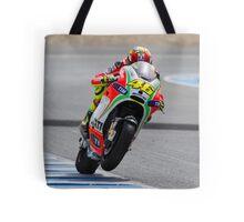 Valentino Rossi in Jerez 2012 Tote Bag