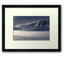 Winter mist by Finnsnut Framed Print