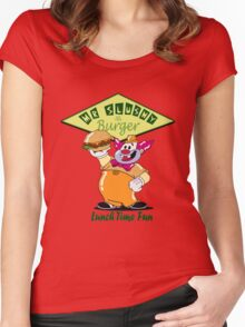 Phineas & Ferb-Slushy Burger Women's Fitted Scoop T-Shirt