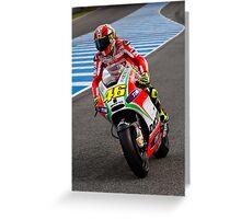 Valentino Rossi in Jerez 2012 Greeting Card