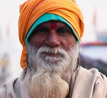 Yellow Turban, Green Knit by phil decocco