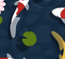 Japanese Koi Fish Pond Sticker