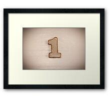 Number I Framed Print