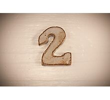 Number II Photographic Print