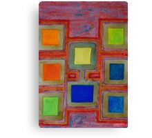 Colorful Screens on the Shelf  Canvas Print