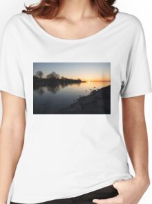 Greeting the New Day on Lake Ontario in Toronto, Canada Women's Relaxed Fit T-Shirt