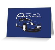 Ford Puma Greeting Card