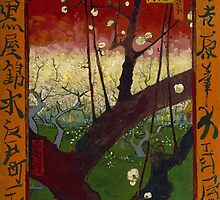 The Blooming Plumtree (after Hiroshige) by Vincent van Gogh by Robert Partridge