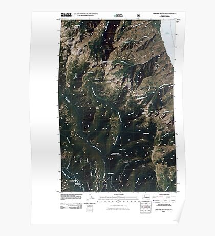 USGS Topo Map Washington State WA Pyramid Mountain 20110427 TM Poster