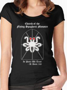 Flying Spaghetti Monster -- Al Dente 3:16 Women's Fitted Scoop T-Shirt