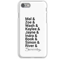 Firefly (Serenity) Names iPhone Case/Skin