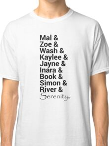 Firefly (Serenity) Names Classic T-Shirt