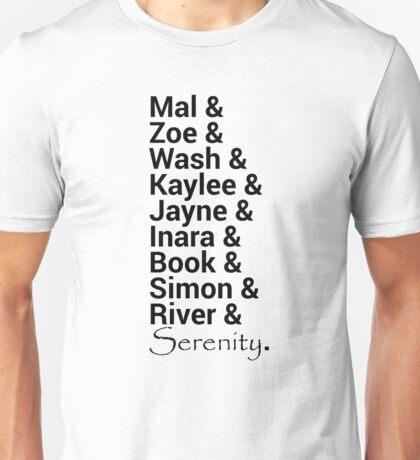 Firefly (Serenity) Names Unisex T-Shirt