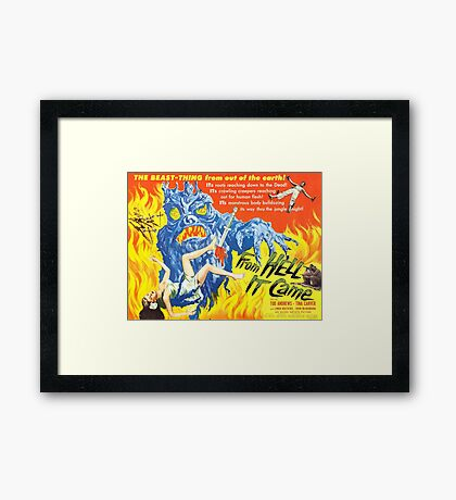 B Movie: From Hell Framed Print