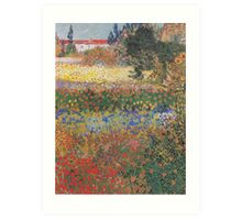 Flowering Garden by Vincent van Gogh Art Print