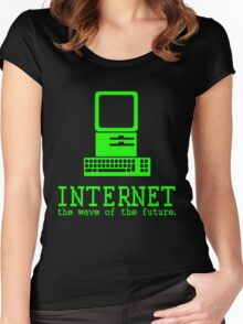 Internet, the Wave of the Future Women's Fitted Scoop T-Shirt