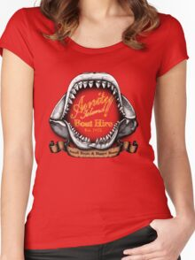 Amity Island Boat Hire Women's Fitted Scoop T-Shirt