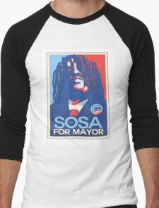 sosa for mayor  Men's Baseball ¾ T-Shirt