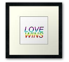 #LoveWins LGBTQ+ products Framed Print