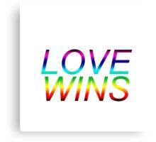 #LoveWins LGBTQ+ products Canvas Print
