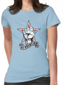 Up The Revolution! Womens Fitted T-Shirt