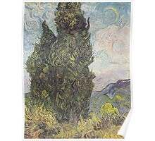 Cypresses by Vincent van Gogh Poster