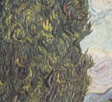 Cypresses by Vincent van Gogh Sticker