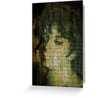 Old Canvas Portrait Greeting Card