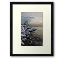 Clearing Snowstorm - Lake Ontario, Toronto, Canada Framed Print