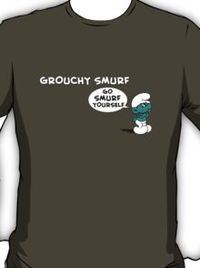 Grouchy Smurf Don't Give a Smurf TeeShirt T-Shirt