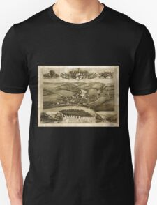 Panoramic Maps Valley Forge Pa 1890 Unisex T-Shirt