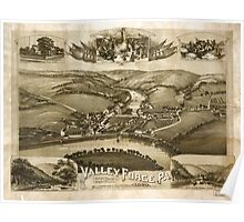 Panoramic Maps Valley Forge Pa 1890 Poster