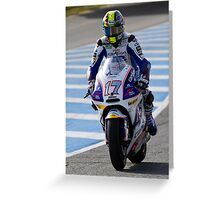 Karel Abraham  in Jerez 2012 Greeting Card