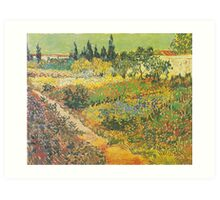 Flowering Garden with Path by Vincent van Gogh Art Print