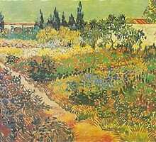 Flowering Garden with Path by Vincent van Gogh by Robert Partridge