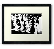 Chess gamer Framed Print