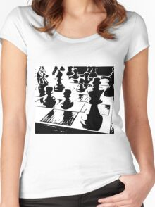 Chess gamer Women's Fitted Scoop T-Shirt