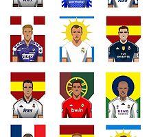 Real Madrid Legends by Daniel Astudillo