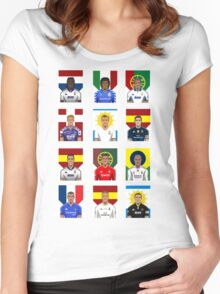 Real Madrid Legends Women's Fitted Scoop T-Shirt