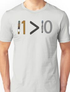 Doctor who 11 is greater than 10 Unisex T-Shirt