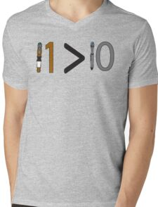 Doctor who 11 is greater than 10 Mens V-Neck T-Shirt