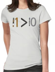 Doctor who 11 is greater than 10 Womens Fitted T-Shirt