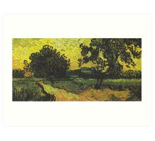 Landscape at Twilight by Vincent van Gogh Art Print