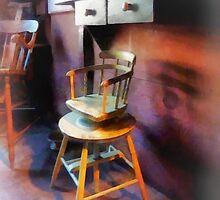 Vintage Child's Barber Chair by Susan Savad