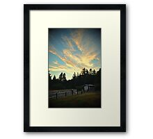 Sunset Mountain Framed Print