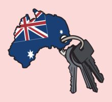 Keys to Australia  One Piece - Short Sleeve