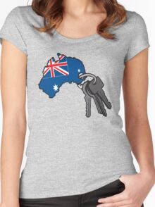 Keys to Australia  Women's Fitted Scoop T-Shirt