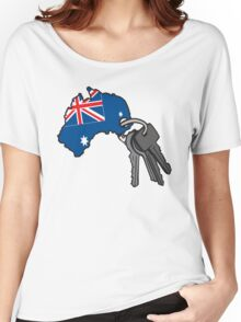 Keys to Australia  Women's Relaxed Fit T-Shirt