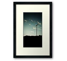 Silhouette Sunset Framed Print
