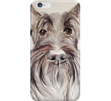Scottish terrier – watercolour head study iPhone Case/Skin